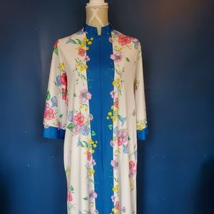 1970s kaftan hostess dress
